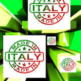 Made In Italy On Cubes Shows Italian Manufacture Royalty Free Stock Photography