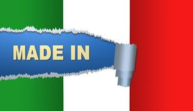 Made in Italy, flag, illustration. Made in Italy, flag,best illustration Royalty Free Stock Image
