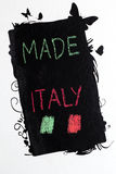 Made in italy handwrite on blackboard Stock Photo