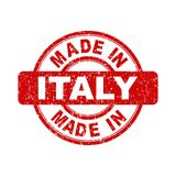 Made in Italy red stamp. Vector illustration on white background Royalty Free Stock Photography