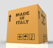 Made In Italy Represents Product Export And Purchase 3d Rendering Royalty Free Stock Photo