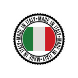 Made in Italy round rubber stamp for products Royalty Free Stock Photo