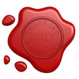 Made in Italy seal Stock Photo