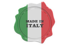 Made in Italy seal, stamp. 3D stock illustration