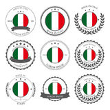 Made in Italy, seals, badges. Vector Stock Image