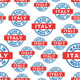 Made in Italy seamless pattern background icon. Flat vector illu Royalty Free Stock Photos