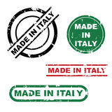 Made in Italy stamp set. Set of four made in Italy grunge stamps isolated on white background.EPS file available Stock Image
