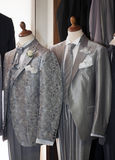 Made in Italy: tailored suits for men Royalty Free Stock Photos