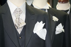 Made in Italy: tailored suits for men Stock Photos