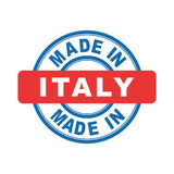 Made in Italy. Vector emblem flat Royalty Free Stock Image