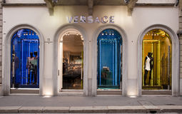 MADE IN ITALY: Versace Boutique, Montenapoleone Royalty Free Stock Image