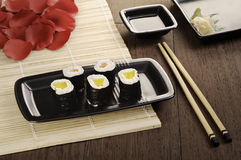 Made in Japan. A perfect Japan maki meal Royalty Free Stock Photo