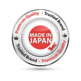 Made in Japan, Premium Quality, Trusted Brand. Business commerce shiny icon with the Mexican flag on the background. Suitable for retail industry Stock Images