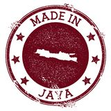 Made in Java stamp. Grunge rubber stamp with Made in Java text and island map. Valuable vector illustration vector illustration