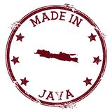 Made in Java stamp. Grunge rubber stamp with Made in Java text and island map. Vibrant vector illustration royalty free illustration