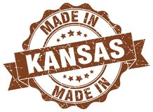 Made in Kansas seal. Made in Kansas round vintage seal Stock Photo