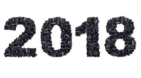 2018 made of keyboard buttons Stock Photos