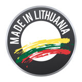 Made in Lithuania label badge logo certified. Stock Photo