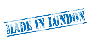 Made in london blue stamp. Isolated on white background Royalty Free Stock Photo
