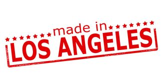 Made in Los Angeles. Rubber stamp with text made in Los Angeles inside,  illustration Stock Photos