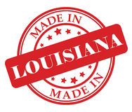 Made in Louisiana stamp Royalty Free Stock Photography