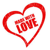 Made with love stock illustration
