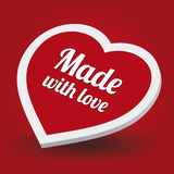 Made with love Royalty Free Stock Photography