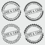 Made with love and care insignia stamp isolated. Royalty Free Stock Images
