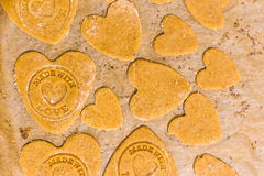 Made with love cookies Royalty Free Stock Photography
