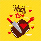 Made with love cooking Stock Image