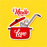 Made with love cooking Royalty Free Stock Image