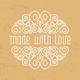 made with love- decorative element, emblem Royalty Free Stock Image