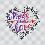 Made with Love Stock Image