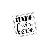 Made with love handwritten lettering Stock Photography