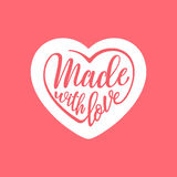Made with love. Handwritten stylized heart. Vector illustration Royalty Free Stock Images