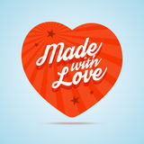Made with love illustration. Stock Image