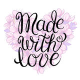 Made with love - lettering Stock Images