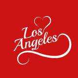 Made with love in Los Angeles Stock Images