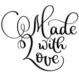 Made with love vector vintage text. Calligraphy lettering illustration EPS10 on white background Stock Image