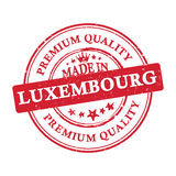 Made in Luxembourg, Premium Quality  printable banner / sticker. Made in Luxembourg, Premium Quality printable grunge label / stamp. Print colors CMYK used Royalty Free Stock Image