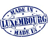 Made in Luxembourg. Rubber stamp with text made in Luxembourg inside,  illustration Royalty Free Stock Photography