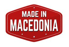Made in Macedonia label or sticker vector illustration