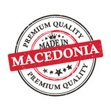 Made in Macedonia, Premium Quality  printable banner / sticker. Made in Macedonia, Premium Quality printable grunge label / stamp. Print colors CMYK used Royalty Free Stock Image