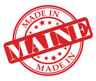 Made in Maine stamp Stock Image