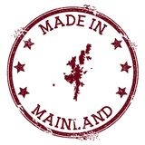 Made in Mainland stamp. vector illustration
