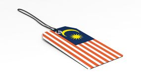 Made in Malaysia price tag with national flag Stock Photos