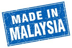 Made in Malaysia stamp. Made in Malaysia square grunge stamp. Malaysia sign. made in Malaysia vector illustration