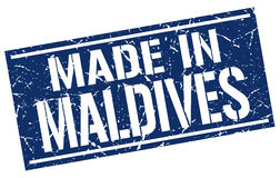 Made in Maldives stamp Stock Photos