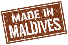 Made in Maldives stamp Royalty Free Stock Photos