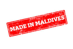 MADE IN MALDIVES Stock Photography
